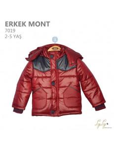 Куртка весенняя для мальчиков бордового цвета Lay Lay