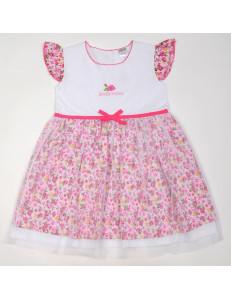 Платье с сеткой розовые розочки